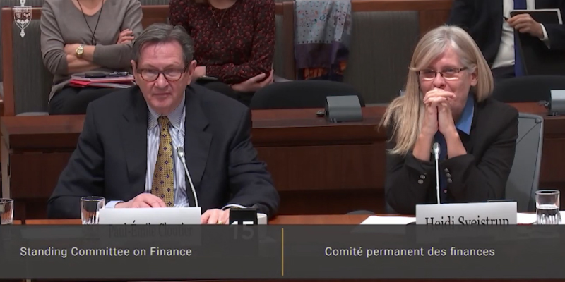 HealthCareCAN & Bruyère Continuing Care appear before the Standing Committee on Finance