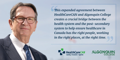 Algonquin College and HealthCareCAN's CHA Learning Collaborate to Build Healthcare 'Campus of Care'